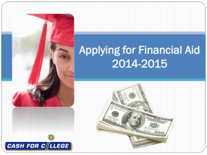 2014-2015 FAFSA On The Web Presentation - English