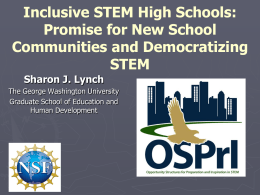 (STEM) focused high schools. - National Association for Research in