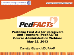 PedFACTs Course Administration Presentation
