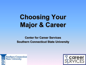Choose a Major - Southern Connecticut State University