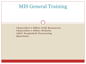 MIS General training powerpoint