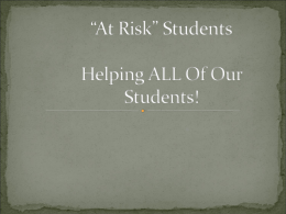 At Risk Students - McKendree University