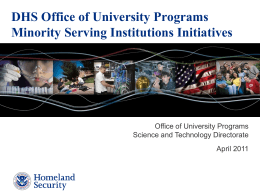 DHS Scholarship and Fellowship Program