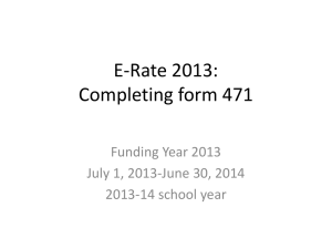 E-Rate 2013: Completing form 471