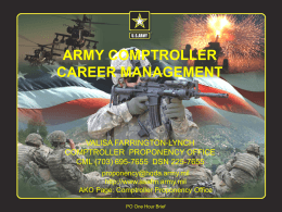 Army Financial Managers