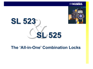 SL 523 & SL 525 – `All-in-One` Combination Locks