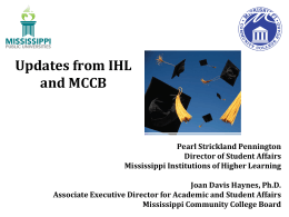 2012 - Mississippi Board of Trustees of State Institutions of Higher