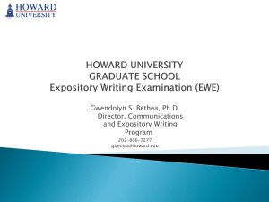 (EWE) (click for more) - Howard University, Graduate School