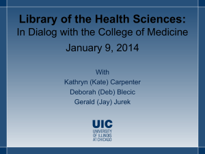 Dialog with the Deans - University Medical Student Council