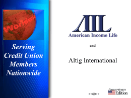 American Income Life and Serving Credit Union Members Nationwide