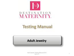 DMC Adult Jewelry Testing Manual