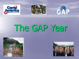 The GAP Year - McCarthy Catholic College