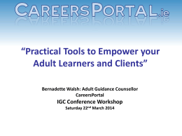 Practical Tools to empower your Adult Learners and Clients