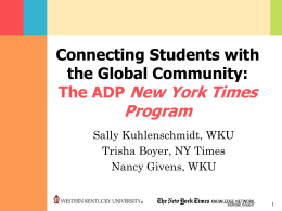 The ADP New York Times Program