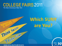 Which SUNY are You? - State University of New York