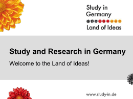 Study and Reserach in Germany - The German Academic Exchange