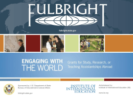 Fulbright Overview PPT