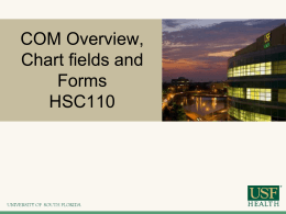 HSC110 Funding Sources & Chartfields - USF Health