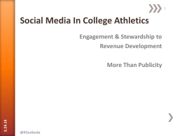 Social Media in College Athletics - Colby