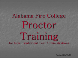 Exam Proctor Training - The Alabama Fire College