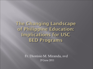 Emerging Curricula of USC BED_Fr. Dionisio Miranda