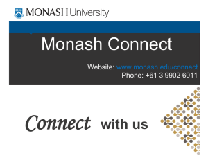 Monash Connect powerpoint presentation