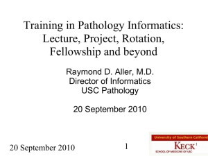 Training in pathology informatics