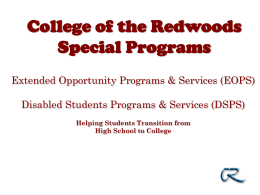 What is EOPS? - College of the Redwoods