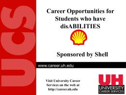 Shell Sponsored Employment Presentation
