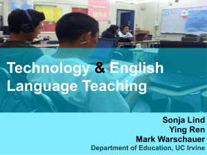 Technology & English Language Teaching