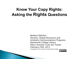 Know Your Copy Rights