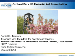 2014-2015 Financial Aid Night Presentation