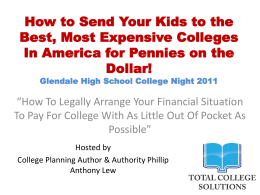 PhillipLewTotalCollegeSolutionsPresentationSept21