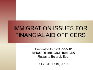 US Immigration Issues for FAOs - NYSFAAA 42
