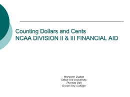 NCAA Division II Advanced Financial Aid