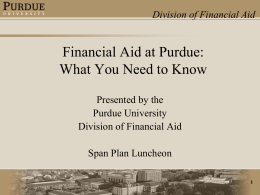 Financial Aid at Purdue – What You Need to Know