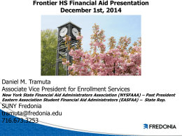 2015-16 Frontier HS Financial Aid Presentation