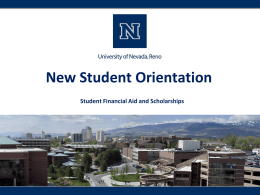 Financial Aid 101 - University of Nevada, Reno