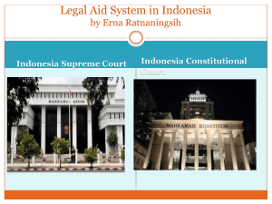Legal Aid System in Indonesia