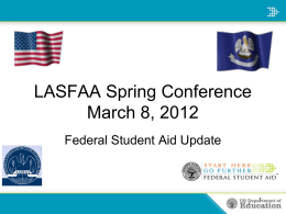 Federal Student Aid Update