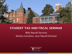 Student Tax and Fiscal Seminar (Microsoft Powerpoint)
