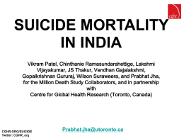 Suicide_June05 - Centre for Global Health Research