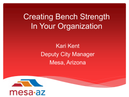 Mesa: Creating Bench Strength in Your Organization
