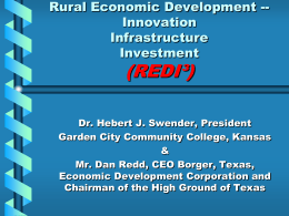 Rural Economic Development - Garden City Community College