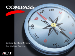 2D - COMPASS Update - the National College Testing Association