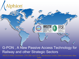 Alphion_IRSTE_IRSE_GPON_A_New_Passive_Access Technology