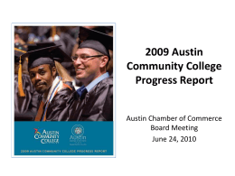2009 Austin Community College Progress Report