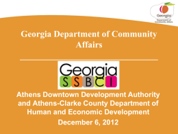 SSBCI Presentation - Georgia State Small Business Credit Initiative