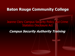 brcc campus security authority training (updated v2)