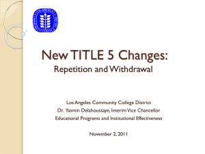 TITLE 5 Changes - West Los Angeles College
